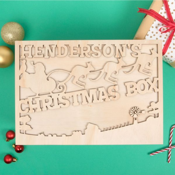 6 white boomers personalised christmas eve box