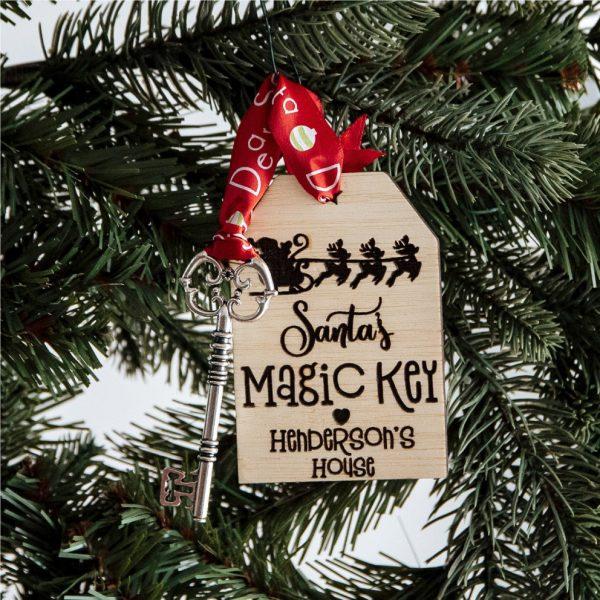 Santa personalised key Australia