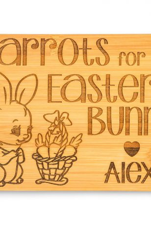 Personalised Carrots for Easter Bunny Board