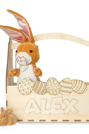 Personalised Easter Basket Australia with name on