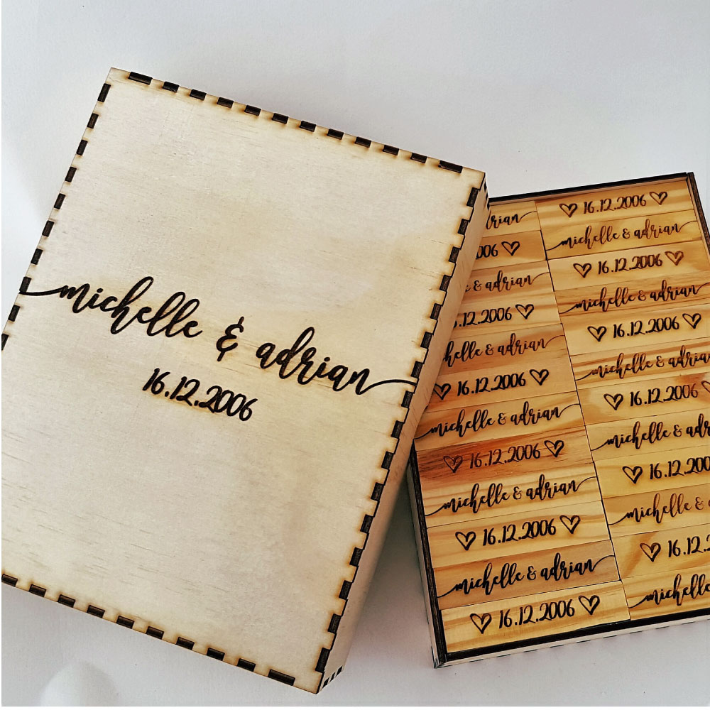 b535732167dae Personalised Jenga Style Guest Book