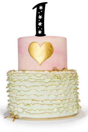 Number One Cake Topper with star detail on top of a birthday cake