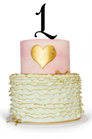 Number One Cake Topper For 1st Birthday Cake
