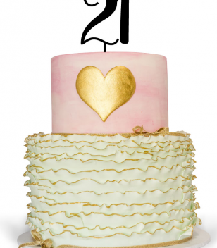 21st Cake Toppers