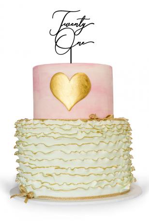 Twenty one cake topper for 21st birthday cake