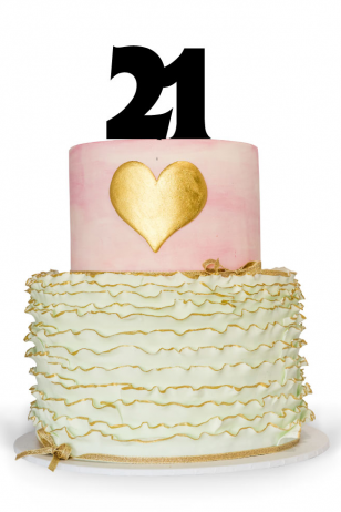 Number 21 Cake Topper for your 21st Birthday Cake