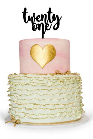 Twenty one cake topper for 21st birthday cake celebration