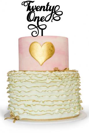 21st Birthday Cake Topper for a 21st birthday celebration