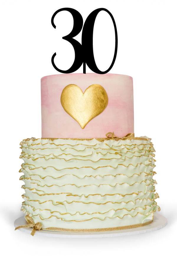 30th Cake Topper for 30th Birthday Cake