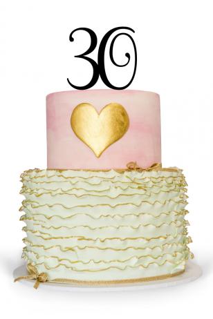 30 Cake Topper For Birthday Cake