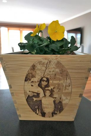Personalised Photo Bamboo Plant Pot