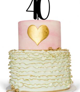 40th Birthday Cake Topper on birthday cake