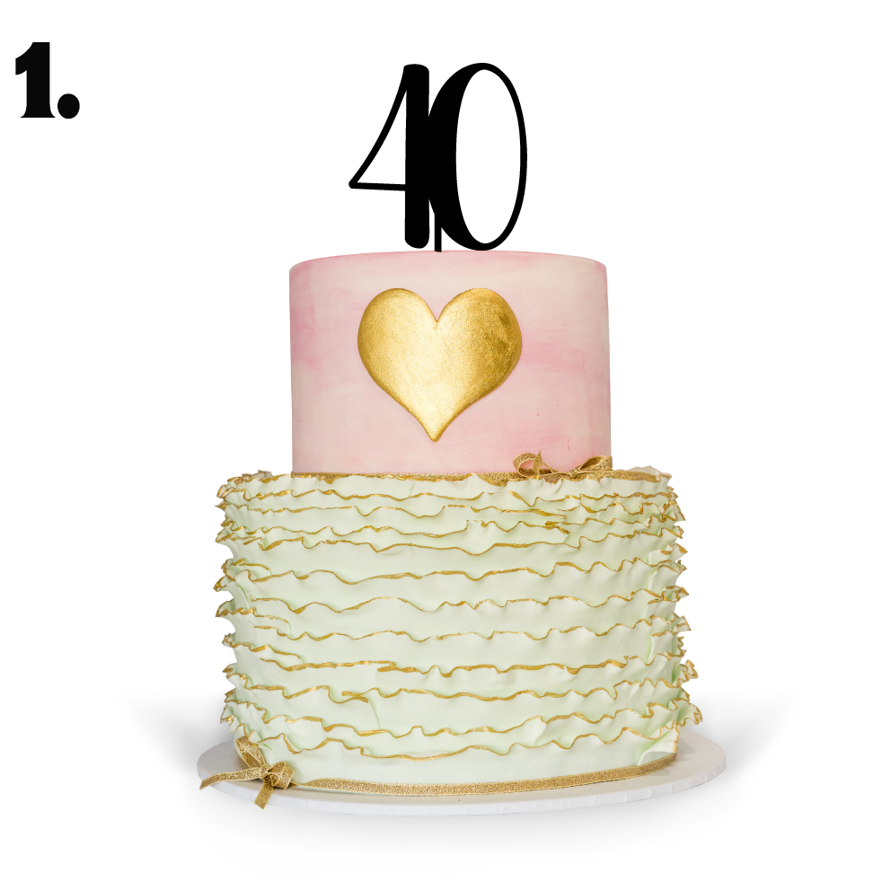 Awesome 40Th Birthday Cake Topper Sweetheart Creative Funny Birthday Cards Online Alyptdamsfinfo