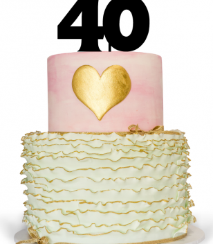40 Cake Topper for 40th Birthday Cake