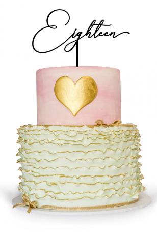 18th birthday cake topper for birthday cake celebration