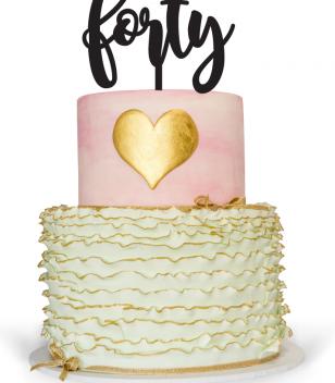 Forty Cake Topper on top of Birthday Cake Australia