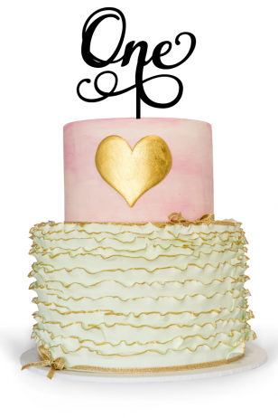 First Birthday Cake Topper For A Birthday Cake