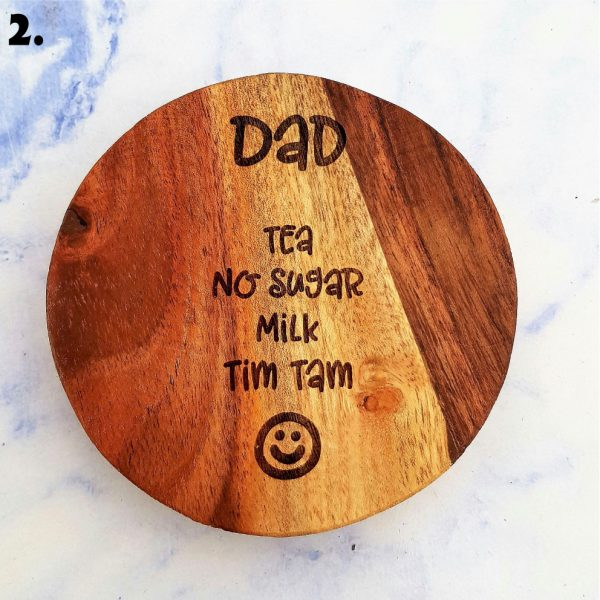 Dad's Drink Order Customised Wooden Coasters