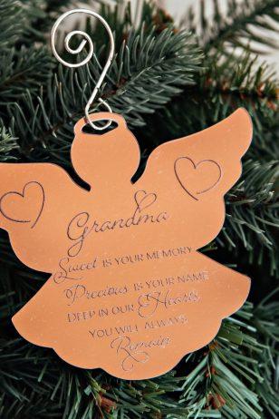 Angel memorial christmas ornament