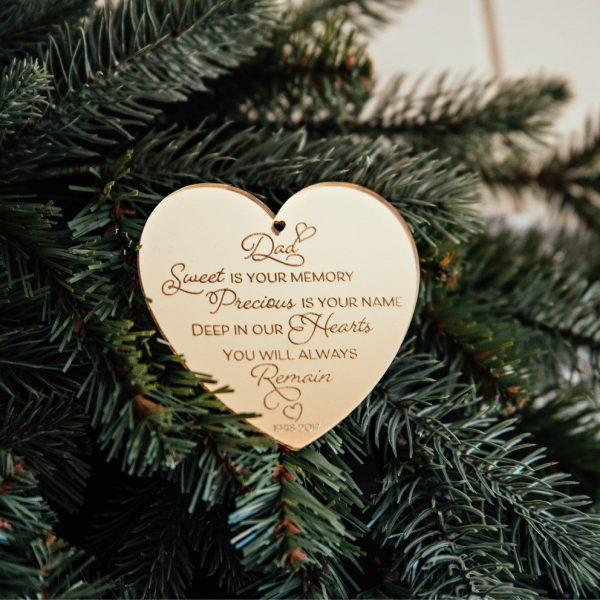 Heart Memorial Christmas Ornament