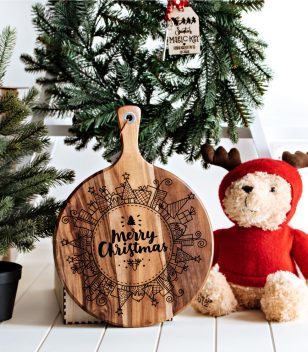 Christmas wooden board