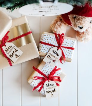 Want Need Read Wear Christmas Tags