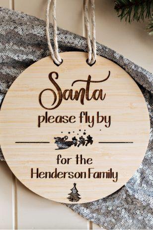 Personalised Santa Sign