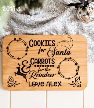 Santa Treat Board Plate