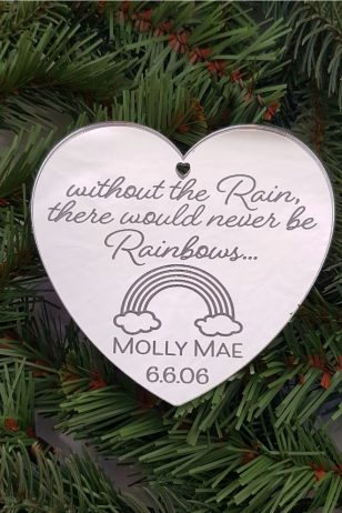 personalised Rainbow baby christmas ornament