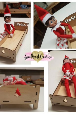 Elf on the shelf personalised christmas bed