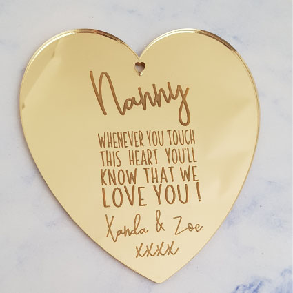 Personalised Mother's Ornament Gold