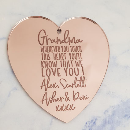 Personalised Mother's Ornament Rose Gold