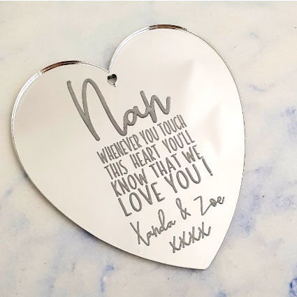 Personalised Mother's Ornament Silver
