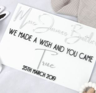 acrylic birth announcement signs
