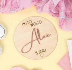 personalised hello world plaque