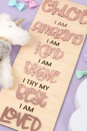 personalised positive affirmation board