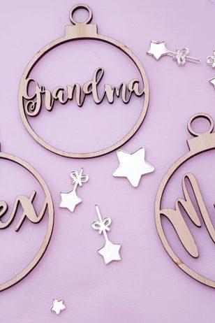 Magnolia Personalised Christmas Ornaments