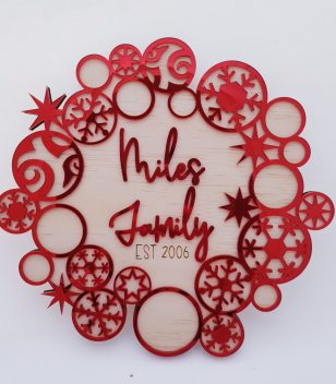 Personalised Family Wreath