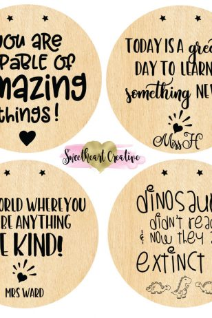 Personalised Positive Affirmation Teacher Classroom Signs