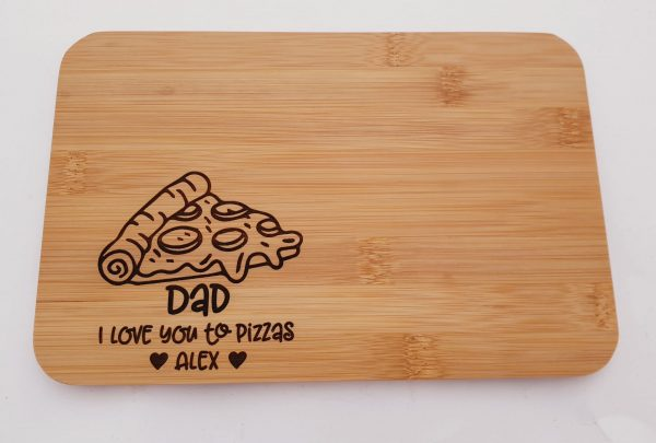 Personalised Father's Day Gift Treat Board Pizza