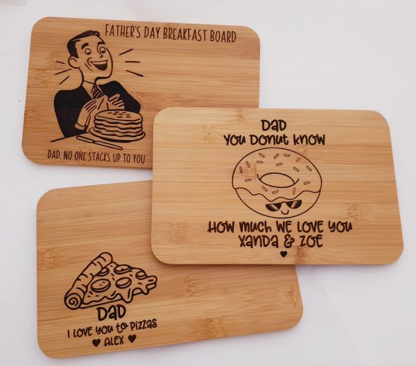 Personalised Father's Gift Treat Boards Mixed