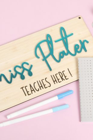 Teal Mirror Personalised Teacher Gift Sign