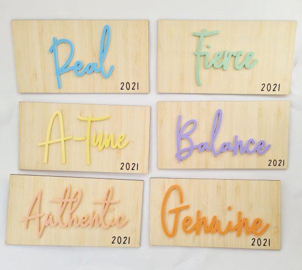 Pastel signs