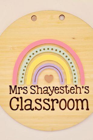 Rainbow classroom sign